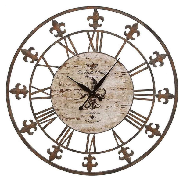 Aspire Aspire 36 Wrought Iron Wall Clock, Antique Brown - 13813 ...