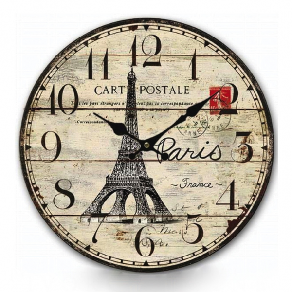 ... French Country Wall Clock Shabby Paris Provincial Vintage Style | eBay