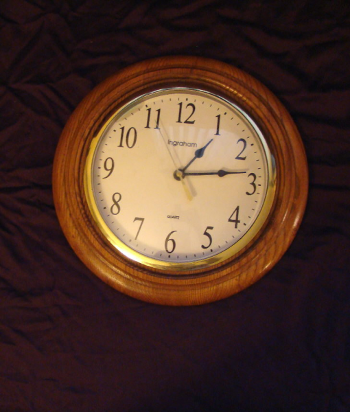 Vintage Wood Clock / Ingraham Quartz Wall Clock / by EarlsBizarre
