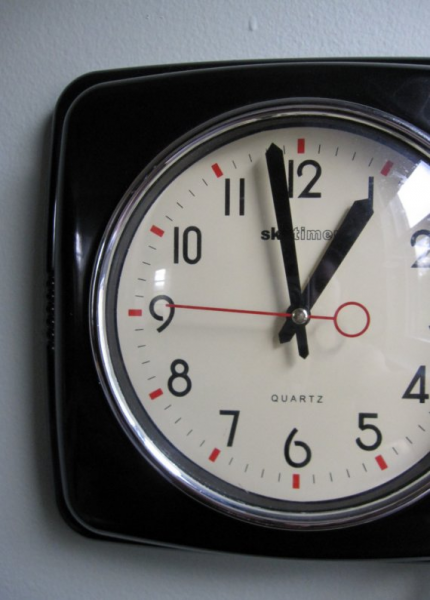 Vintage Quartz Skytimer Wall Clock in Brown by APKVintage on Etsy