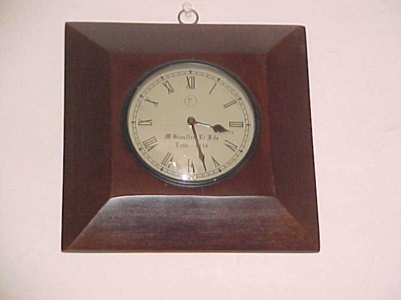 view large photo of Wooden Wall Antique Clock