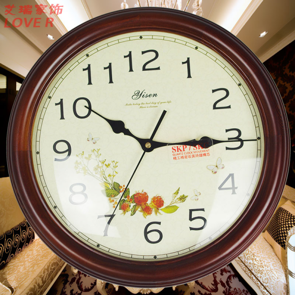 ... wood antique wall clock chinese style clocks mute fashion Large clock
