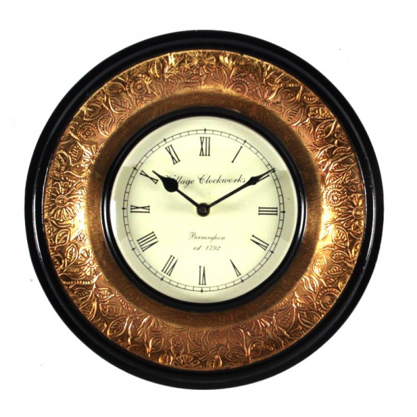 Home Page HOME DECORATIVES Wall Clocks Antique Brass Wooden Wall Clock