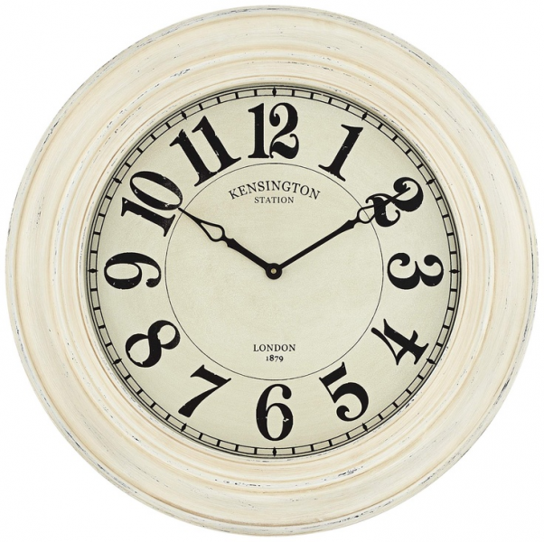 Kensington Station Ivory Wash 30 Round Wall Clock | 55DowningStreet ...
