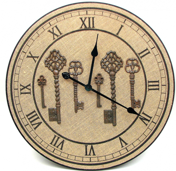 Wood 23 Burlap Wall Clock 049-14025 - 049-14025-IW - Gifts ...