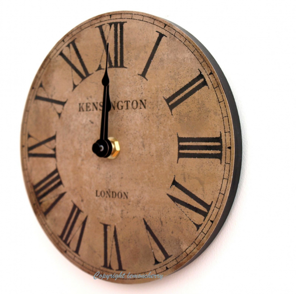 wall-clock-chic-shabby-distressed-style-baby-small-kitchen-wall-clock ...