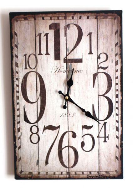 Wall Clock - Shabby & Chic Distressed Antique Rustic Style Clock for ...