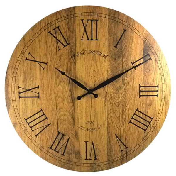 20-inch Vintage Italian Tuscany-style Wooden Wall Clock - Overstock ...