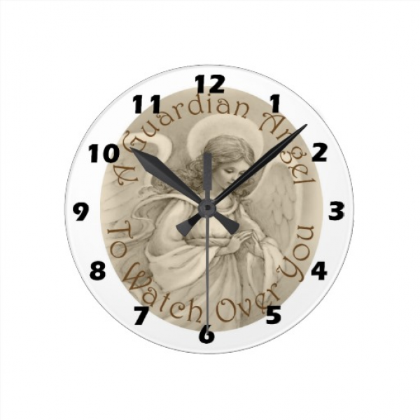 Guardian Angel Wall Clock | Zazzle