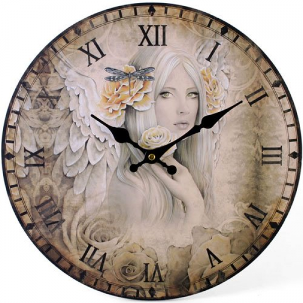 ... Angel 43613 - Jessica Galbreth Large Rustic Retro Kitchen Wall Clock
