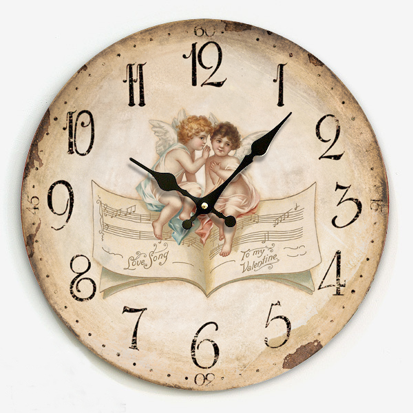 ... large wall clock table small angel wall clock vintage-inWall Clocks