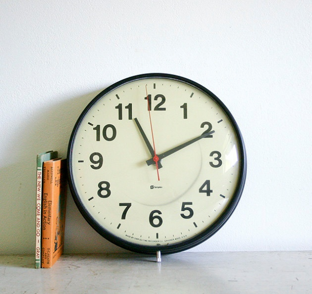 Vintage School or Office Wall Clock | Home things | Pinterest
