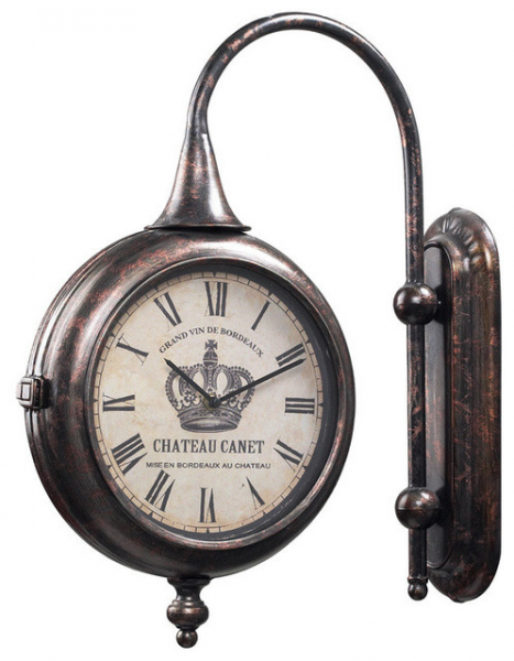 ... 036 Antique Double Sided Chateau Canet Wall Clock contemporary-clocks