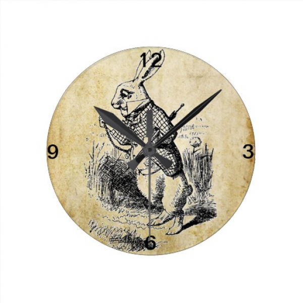 Antique White Rabbit Wall Clock | Zazzle