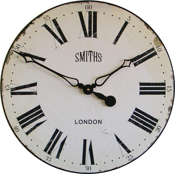Smiths Antique Style Off White Wall Clock - 50cm