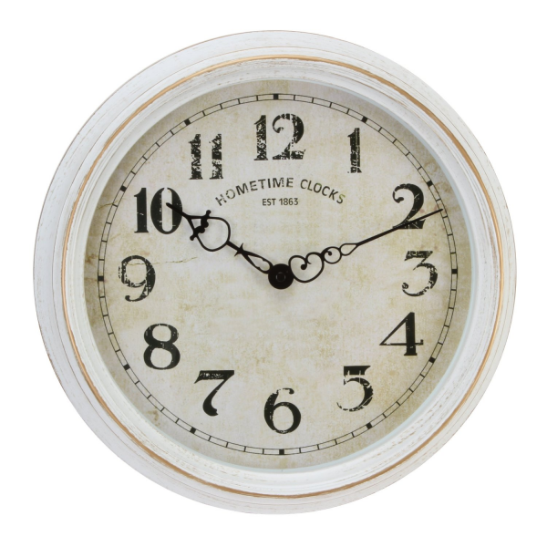 Deluxe Antique Style Canberra Wall Clock (White)