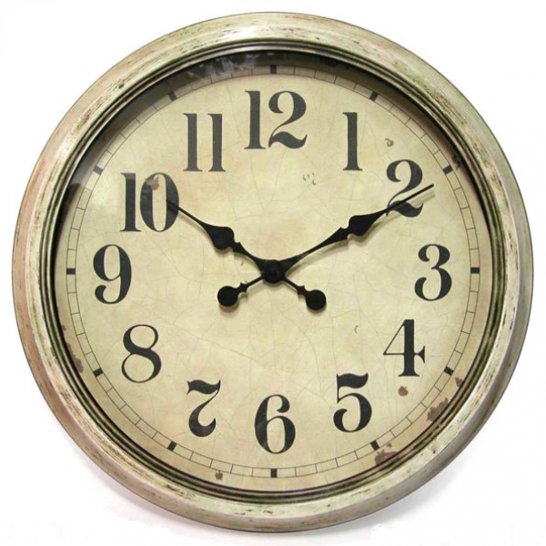 Antique Wall Clock-antique_white_resin_wall_clock | County Home