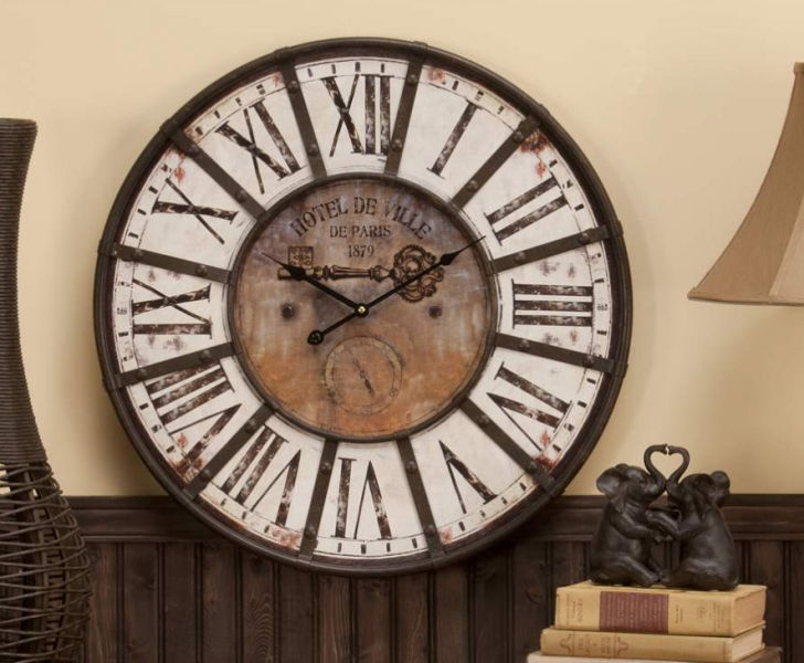 ... 24 034 Shabby French Wall Clock Vintage Cottage Rustic Décor | eBay