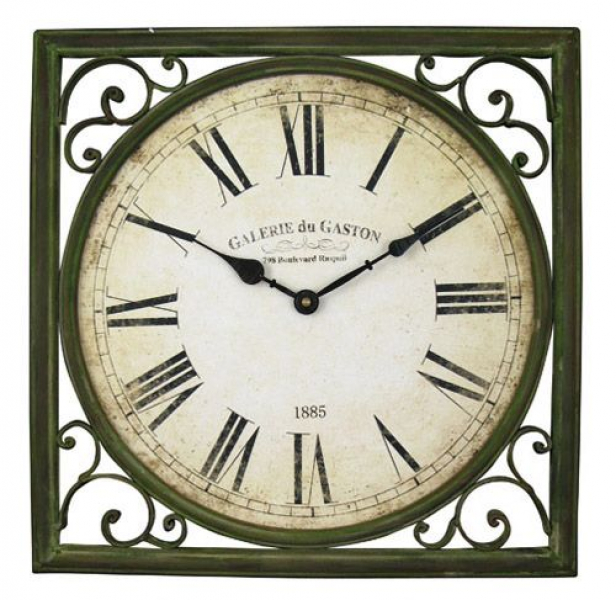GALERIE DU GASTON METAL CLOCK from Jash Living #frenchstyle #wallclock
