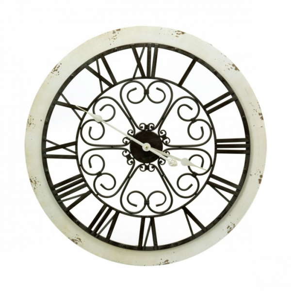 Home » Rustic Iron & Wood Wall Clock