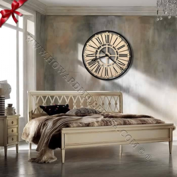 Howard Miller Antique White Wall Clock 625546 Pierre