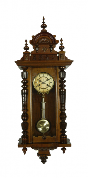 Details about Beautiful Antique German Junghans wall clock at 1880