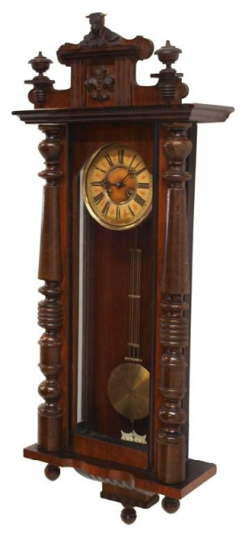 LARGE ANTIQUE GERMAN WALL CLOCK