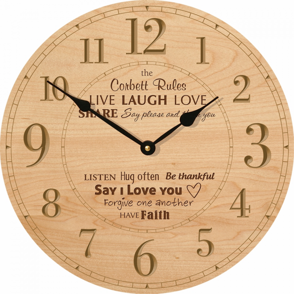 Home > Home Goods > Clocks > Family Rules Personalized Wall Clock