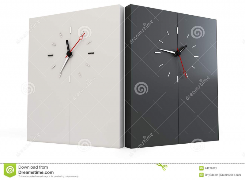 3d Time Zones Wall With Clocks Royalty Free Stock Photo - Image ...