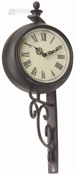Durocraft Outdoor 2-Sided Small Wrought Iron Wall Clock - CM-TH051-05 ...