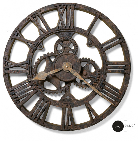Allentown Wall Clock - Industrial - Wall Clocks - by Interior Clue