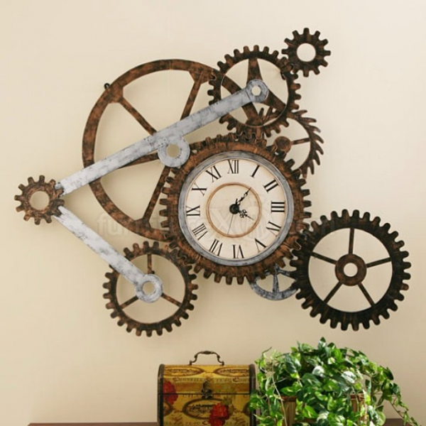 Decorate your walls with gear wall clocks