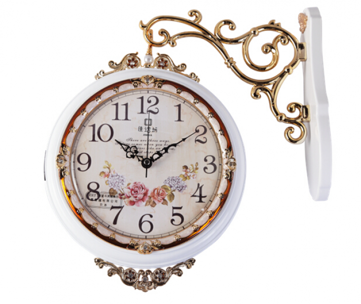 Solid Wood Antique Double Sided Wall Clocks GBZ-9005