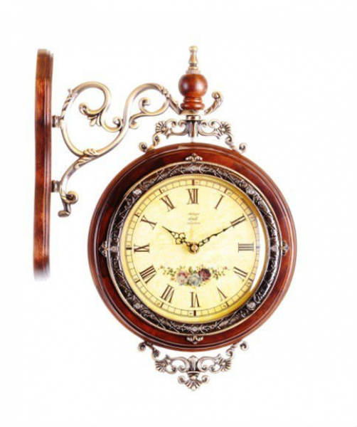 Solid Wood Antique Double Sided Wall Clocks