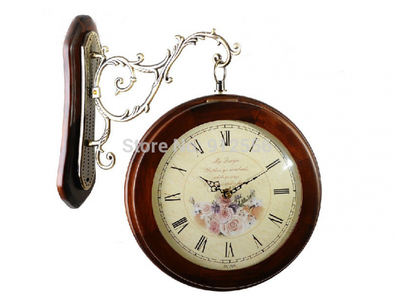 ... Decor Wooden Clock Cheap Retro Double Sided Clock For Wedding Gift
