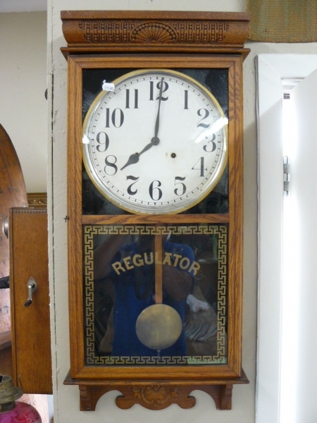 Antique wall regulator clock