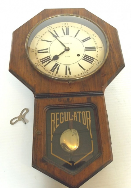 VINTAGE VERICHRON 31 DAY REGULATOR WALL CLOCK : Lot 230
