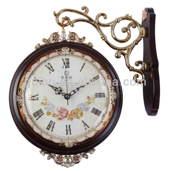 Solid Wood Antique Double Sided Wall Clocks-Relógios de parede-ID do ...