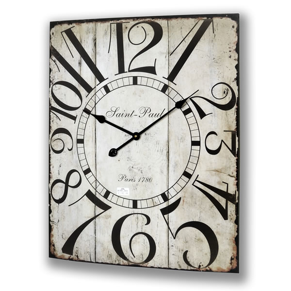 saint paul funky large kitchen wall clock this large wall clock has a ...