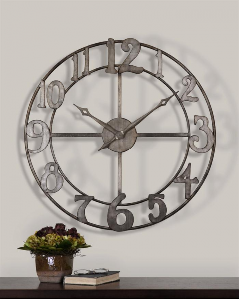 ... large wall clock with open design previous in wall clocks next in wall