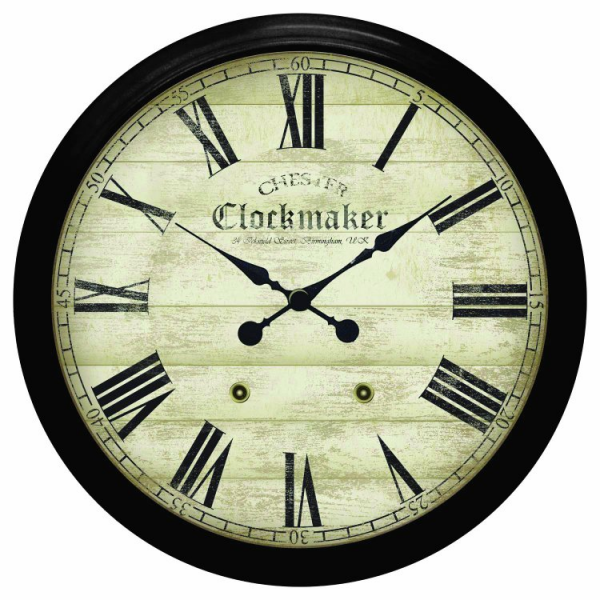 Large Metal Chester Clockmaker Wall Clock