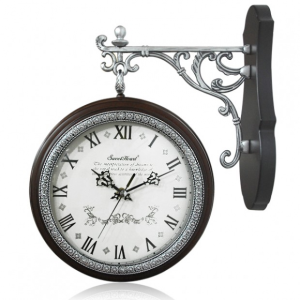 Silent Antique Freed Double Sided Wall Clock 23cm-Decowall Wall Clock