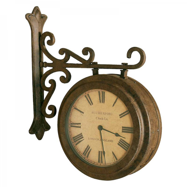 ... Hanging Double Sided Wall Clock - 5.5W in. - Wall Clocks at Hayneedle