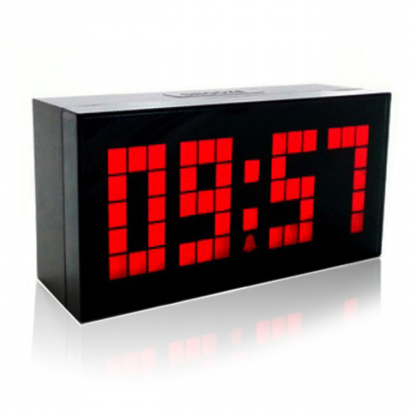 ... Big-Jumbo-LED-Alarm-Clock-Snooze-Calendar-Weather-Wall-Desk-Clock-Red