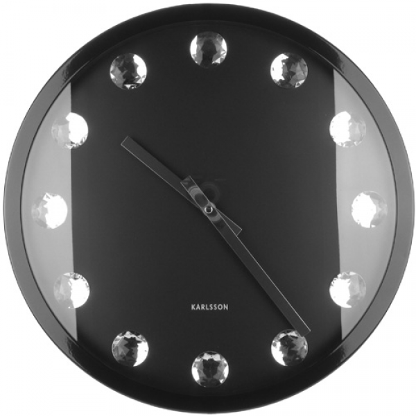 You are here: Home > Big diamond black wall clock 39.5cm
