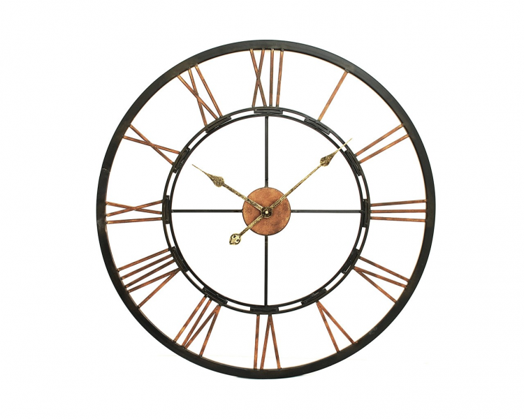 large metal wall clock a stunning large metal wall clock with a ...
