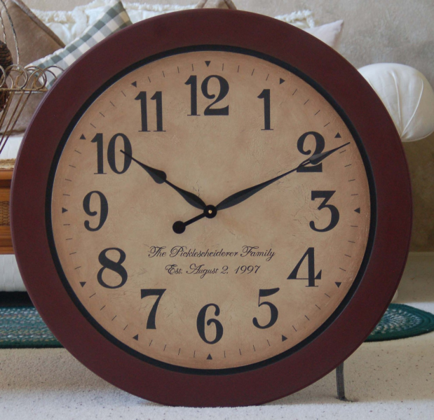 30 inch large wall clock antique style framed by BigClockShop