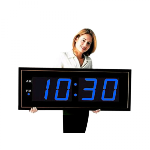 Big Time Clocks Giant 8 Blue Numbers Digital Wall Clock & Reviews ...