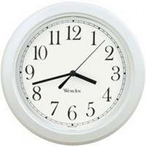 WESTCLOCK 46994A WALL CLOCK WHITE CASE DIAL 8-1/2 DIA. NEW (Pack of 6 ...