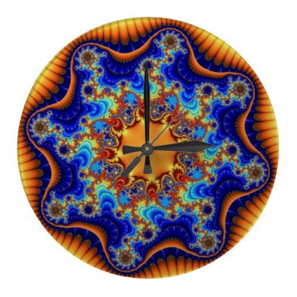 Customizable Celestial Fractalscope Large Round Wall Clock on sale at ...